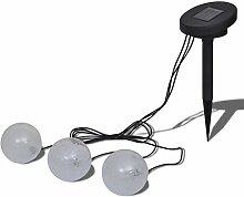 3X LED Solar Kugelleuchte Solar Schwimmleuchte