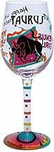 3x Lolita Taurus Zodiac Weinglas ist ein