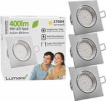 3x Lumare LED Einbaustrahler 4W 400 Lumen IP44 nur