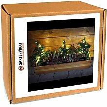 3x Mini-Weihnachtsbaum Tanne mit LED beleuchtet