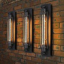 3x Modern Industrielle Metall Rohr Retro Wandlampe