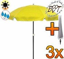 3x PREMIUM-Sonnenschirm UV50+ mit Hülle / XXL