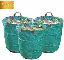 3x Reißfester Gartensack extra groß mit 272