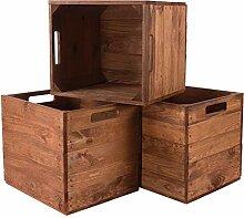 3X Vintage-Möbel 24 Holzkiste Used für Kallax