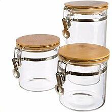   3x Vorratsglas, Vorratsdosen aus Borosilikatglas