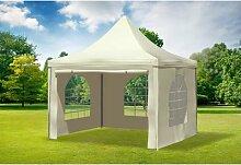 3x3 m Pavillon ARABICA PVC 400 g/m² - wasserdicht
