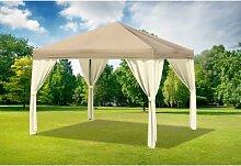 3x3 m Pavillon SAHARA Polyester-PVC 280 g/m² -
