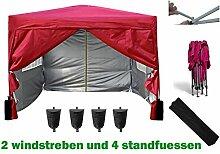 3x3m Pavillon, Gartenpavillon, Falt-Pavillon, Festzelt, Partyzelt, Komplettset in 4 Farben von MCC, Ro