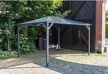 3x4 m Pavillon ROMANCE Hardtop Pergola Aluminium