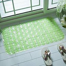 4,07 Badematte Badezimmer Badewanne Dusche Badezimmer Matten Matten wasserdicht pad Massage 45 x 78 cm, 45 x 78 cm Grün