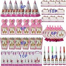 4-20 Kinder Geburtstag Einweggeschirr Set Unicorn