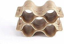4/3/2 Schichten Holzwelle Weinregal Creative Home