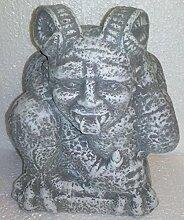 4,5 kg gewicht Steinfigur Teufel mit Hörnern DRACHE DRACHEN Buddha Deko Garten Teich Deko Tierfigur Koi massiver Steinguss
