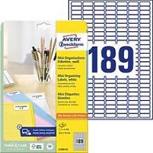 4.725 AVERY Zweckform Etiketten L7658-25 weiß