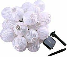 4.8 M 20-LED Solar Betriebene Laterne Stil LED-Licht Leuchten Garten Hof Weihnachten Dekoration String Lichterkette Warmweiß