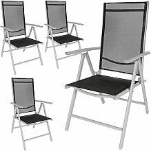 4 Aluminium Gartenstühle - Gartensessel,