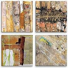4 Bilder Set Abstrakt Rose Quartz Frau Farbenfroh