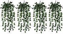 4bunchs Home Garten-Wanddekoration im atificial Fake hängende Girlande Vine pflanzenblättern V1Scindapsus