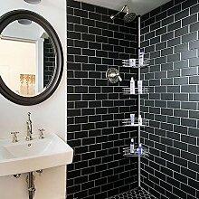4Ebenen verstellbar Badezimmer Regal, Metall