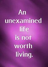 """4 Ein Unexamined Life Is Not Worth Living motivierendem Love Life """","""" Best Color Belive Bestimmung Bilderrahmen für DIN A3, Poster-Prin"""