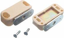 4 einzelner magnetischer Verschluss mit und Befestigungsschrauben Beige 5Kg Pull