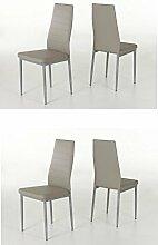 4-er Set Simone Cappucino Stuhl Esszimmerstuhl Küchenstuhl Sessel Kunstleder