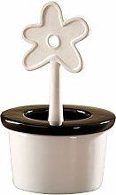 4 er Set Wenko Luftentfeuchter - runder Keramik-Verdunster- Blumentopf