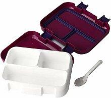 4-Fächer-Brotdose für Kinder Auslaufsichere