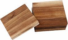 4 Glasuntersetzer aus Akazienholz