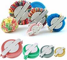 4 Größen erhältlich Pompom Maker Flusen Ball