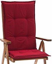 4 Hochlehner Sessel Auflagen Rio 50318-300 uni rot 118 x 49 cm (ohne Stuhl)