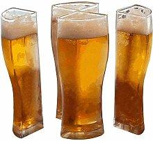 4-in-1 Bierkrug aus Acryl-Kunststoff, für