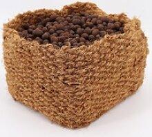 4 Kokos P?anzkorb 20 x 20 x 15cm Teichkorb für