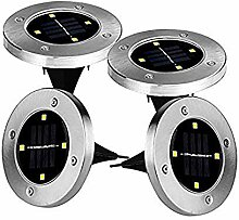4 LED Solar Bodenleuchten Aussen Solarleuchte