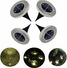 4 LEDs Solarbetriebene LED Bodeneinbauleuchte