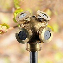 4 Loch Messing Sprühdüse Garden Sprinkler Bewässerung Fitting
