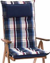 4 Luxus Auflagen für Hochlehner 9 cm dick mit Kopfkissen Miami 90545-100 (ohne Stuhl)