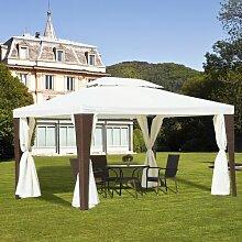 4 m x 3 m Pavillon Santos aus Stahl Garten Living