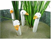 4 mini Gänsehälse, Keramik, Höhe 8cm - sehr dekorativ - Hochzeitsgeschenk - Geschenk (1 Pack á 4 Stück)