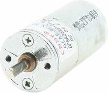 4mmx11mm Schaft 25mm Dia Zylinder geformt Gear Motor 200RPM 24V DC