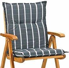4 Niederlehner Auflagen 8 cm dick 103 cm lang grau Miami 20426-700 (ohne Stuhl)