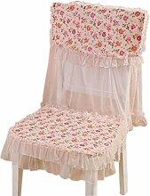 4 Paare elegante stuhlhussen und Cushion, rosa Blumen