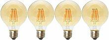 4 Pack 6W E27 Nicht Dimmbar LED Edison Lampe G80