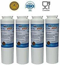 4 Pack - IcePure Wasserfilter ersetzen Maytag, Amana, Kenmore, Jenn-Air, Whirlpool, Kitchenaid, UKF8001, UKF8001AXX, UKF - 8001P, UKF9001, UKF9001AXX, 469006, 469992, 9005, 9006, 469030, 12527304, 4396395, WF295, WF50, SGF-M10