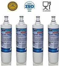 4 Pack Whirlpool 4396510 Compatible Water Filter Refrigerator RFC0500A