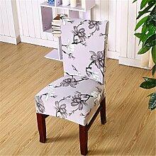 4PCS Esszimmerstuhl Stretch Spandex Bezüge Stuhl Sitz Displayschutzfolie Bettüberwurf Dekor Neu, Color 7, Einheitsgröße