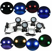 4 PCS RGB LED Unterwasserbeleuchtung