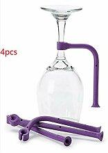 4PCS/Set Silikon Weinglas Geschirrspüler Halter