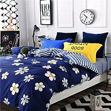 4 piece blumen comforter set king queen hoch klasse luxuriös flower drucken garten stil modern bettwäsche schwarz weiß multi color -X King