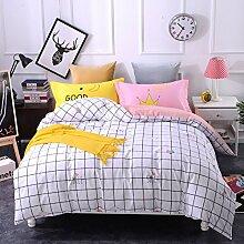 4 piece blumen comforter set king queen hoch klasse luxuriös flower drucken garten stil modern bettwäsche schwarz weiß multi color -U King